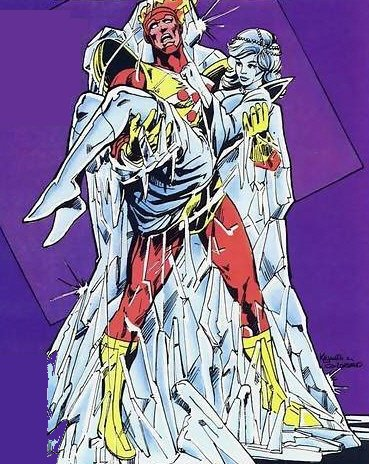 Art by Rafael Kayanan & Dick Giordano from The Fury of Firestorm, The Nuclear Man, Vol. 2, #20